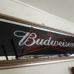 Budweiser Panoramic Wall Mirror for Sale in La Puente, CA