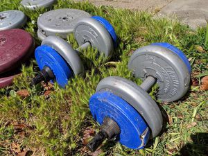 Large weight set almost 200 lbs for Sale in San Leandro, CA