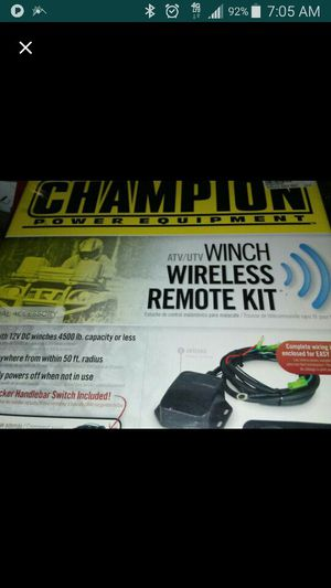 Winch kit with rocker switch and remote setup for Sale in Layton, UT