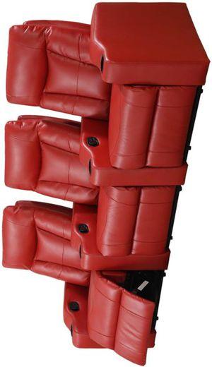 ESPECIAL] Madison Rojo 3 asientos de cine en casa Conjunto for Sale in Pflugerville, TX