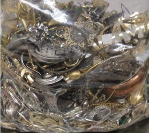 Unsorted/Untested silver and gold tone jewelry heavy grab bags for Sale in Portland, OR