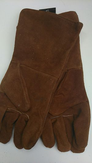 NEW! LEATHER WELDING GLOVES, 14 INCH COWHIDE for Sale in Palm Beach, FL