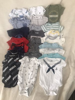 24 baby boy onesies 0-3months for Sale in Fresno, CA