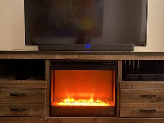 TV Stand w/Electric Fireplace for Sale in Englewood,  NJ