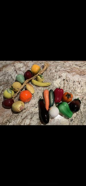 Decorative glass/ceramic Fruit and Vegetables for Sale in Dale City, VA