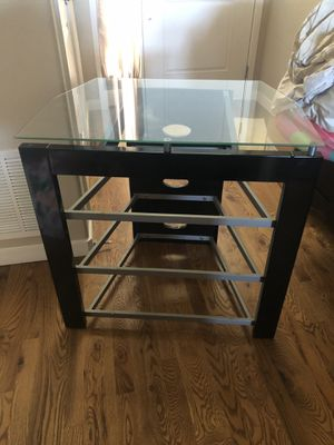 Entertainment Center with glass shelves for Sale in Peyton, CO