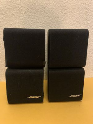 Pair Bose cubes speaker black ( works ) One of the speakers need new grill for Sale in Phoenix, AZ