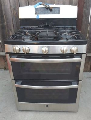 GE Gas stove Range w/ Double Oven - Stainless for Sale in Temple City, CA