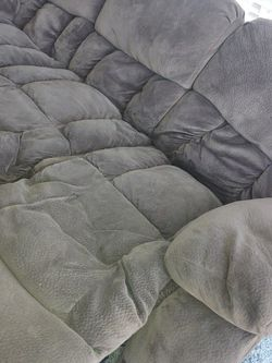 Jeromes Reclining Couch Sofa 3 Seater Brown Microfiber for Sale in San Diego,  CA