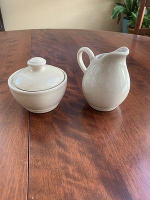 PFALTZGRAFF CAPPUCCINO Sugar Bowl w/ Lid & Creamer Small Pitcher Set Mint condition for Sale in Arlington, VA