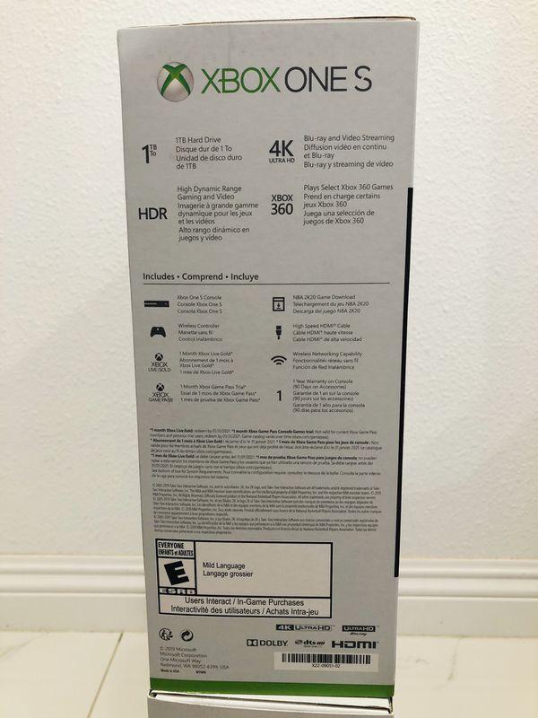 XBox One S Bundle Nba 2k