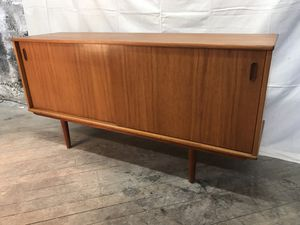 Mid century modern danish teak vintage credenza for Sale in Ruston, WA