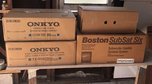 Onkyo system, Boston speakers and subwoofer for Sale in Arcadia, CA