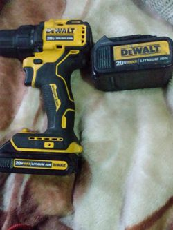 Dewalt Cordless Drill Driver Atomic+2 20v Max Battery for Sale in Seattle,  WA