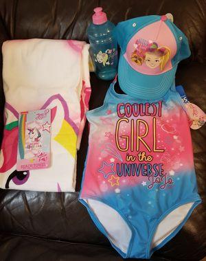 73c1d97c19 Jojo Siwa Swimsuit. Beach Towel. Baseball Hat and Water Bottle for Sale in  Brooklyn