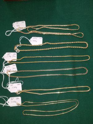 10k 14k 18k GOLD chains for Sale in Colorado Springs, CO