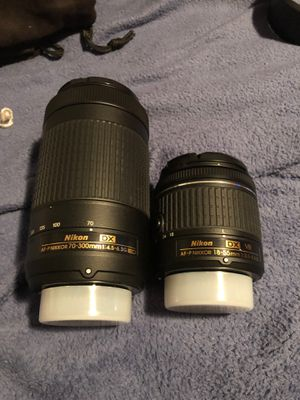 Nikon 18-55mm, 70-300mm lenses for Sale in Maywood, IL