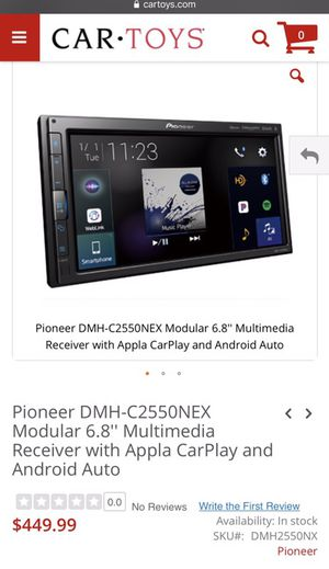 Pioneer DMH-C2550NEX Modular 6.8'' Multimedia Receiver with Apple CarPlay and Android Auto for Sale in Houston, TX