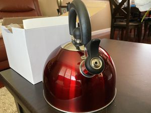 Red Whistling Tea Kettle by Home- Style Kitchen for Sale in San Jose, CA