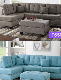Sectional Sofa With Ottoman Item#F6504/F6505 for Sale in Santa Ana,  CA