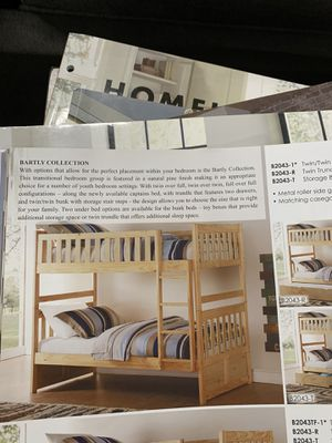 Twin over bunk bed on Sale( mattresses are sold separately) ON SALE for Sale in Federal Way, WA