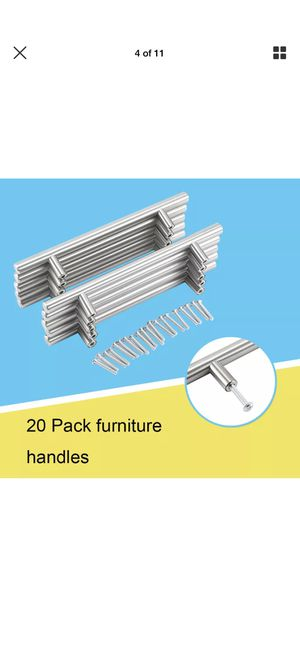 20Pcs Stainless Steel Kitchen Cabinet Handle T Bar Pull Hardware Drawer Pulls 12mm for Sale in San Gabriel, CA
