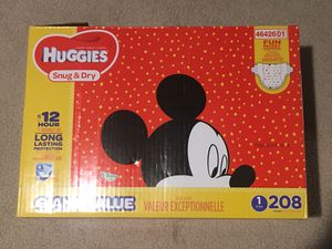 Huggies Size 1 Diapers for Sale in Arlington, TX