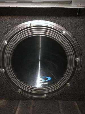 12inch Alpine S Subwoofer and Ported Box 600 Watts Rms for Sale in La Habra Heights, CA