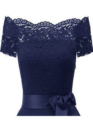 Brand new Navy Lace Cocktail/Party Dress with Satin Sash for Sale in Woodbridge, VA