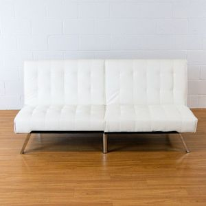 White Leather Futon (2000246) for Sale in Tempe, AZ