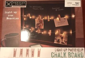 Light-up photo clip chalk board, NEW! for Sale in Silver Spring, MD
