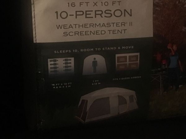 New never used 10 person tent Coleman 16ft by 10ft.