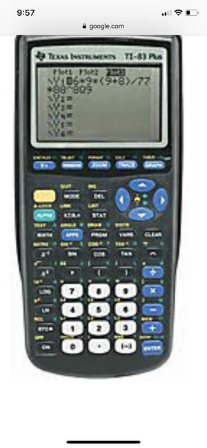 TI83 Calculator for Sale in Manassas, VA