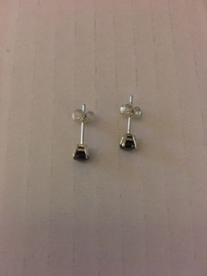 Black diamond earrings/silver for Sale in Daly City, CA