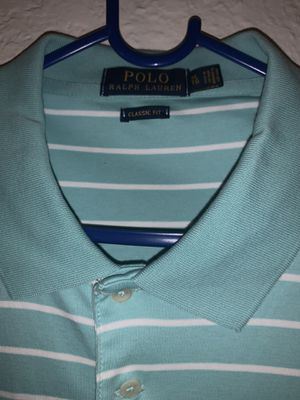 Polo Ralph Lauren striped blue shirt for Sale in Ontario, CA