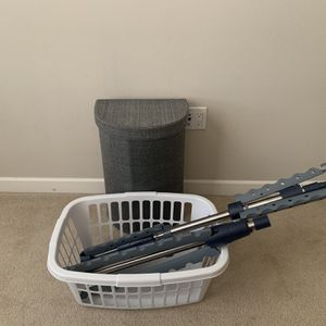3 PC Laundry Set: Tripod Drying Rack, Laundry Hamper, Laundry Basket for Sale in San Diego, CA