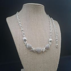 14K white gold filled Xoxo chain and bracelet set for Sale in Hollywood,  FL