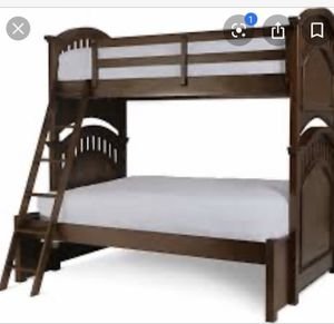 Twin over full cherry wood bunk beds for Sale in Fresno, CA