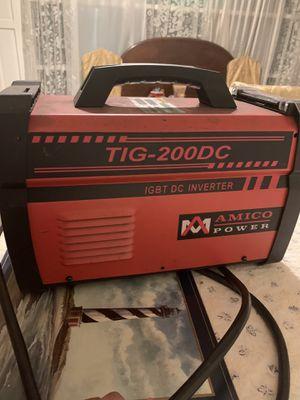 Amico Power TIG-200 Amp TIG Torch Stick Arc DC Welder 110V & 230V Dual Voltage Welding Machine for Sale in Annandale, VA
