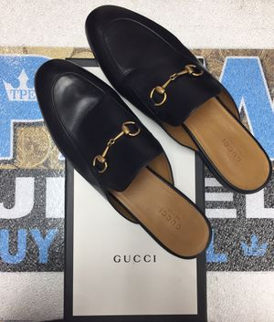 Gucci Flats Betis Glamour Leather Upper Sole Sandal Size 41 #3949 for Sale in Scottsdale, AZ