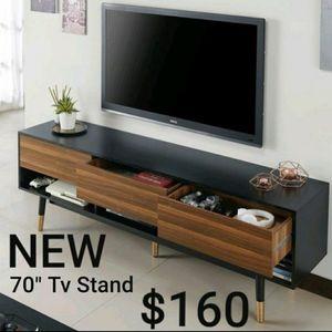 "70"" Black and Brown Tv Stand for Sale in Montebello, CA"
