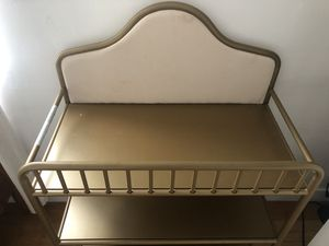 Metal Changing Table, Gold for Sale in San Diego, CA