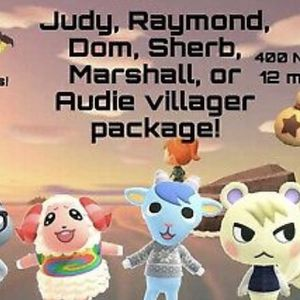 Nintendo Switch Animal Crossing Items Bells Nmt Raymond Or Any Villager, In Boxes Ready To Move To Your Island + Gold Tool Diy for Sale in Miami, FL