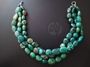 3 strands of genuin, natural turquoise necklace! Sterling clasp. High quality & Rare! for Sale in Altamonte Springs, FL
