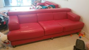 Red Leather Couch for Sale in Pembroke Park, FL