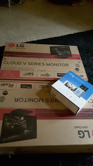 2 LG CLOUD V SERIES MONITORS AND VIDEO DOORBELL 2 for Sale in Pittsburgh, PA