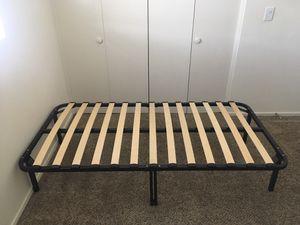 Metal Bed Frame w/Wood Slates for Sale in Gaviota, CA