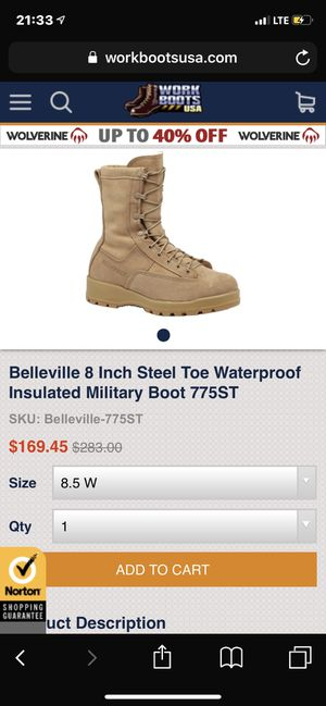 Belleville insulated/ steel toe men's boots for Sale in Lynchburg, VA