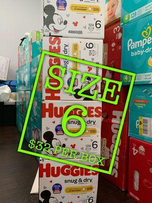 Huggies snug dry size 6 for Sale in Lakewood, CA