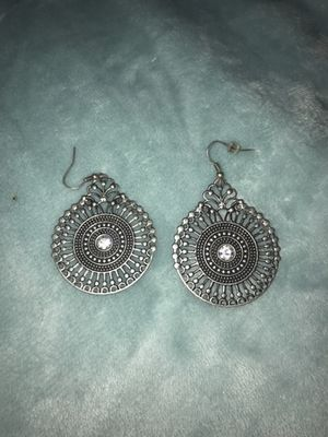 Silver diamond earrings for Sale in Colorado Springs, CO